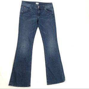 Hudson 30 Signature Boot Cut Jeans Flap Pockets